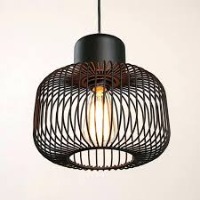 wire cage pendant lighting best of light awesome modern copper uk 1 pen