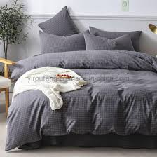 china apartment dark gray plaid cotton