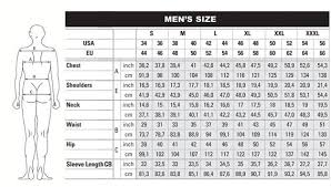 Pants Size Chart Mens Conversion Chef Uniforms Size Charts