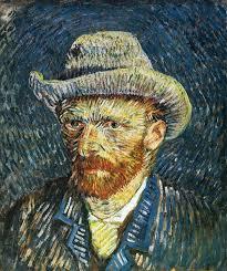 vincent van gogh self portrait with felt hat 1887