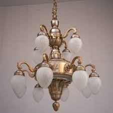 Hall Lighting 12 Arm Brass Chandelier Budapest Casa Lumi