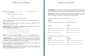 Free Service Contract Template Service Contract Template Free Contract Templates