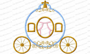 Cinderella Applique Design Cinderella Style Princess Carriage Applique Embroidery Design