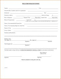 Template Field Trip Letter Permission Slip Form To Release