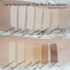 Tarte Amazonian Clay Foundation Light Neutral Samantha Jane Tarte Amazonian Clay Stick Foundation Tarte