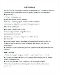 Supply Technician Resume Sample Lab Technician Resume Sample Lofty