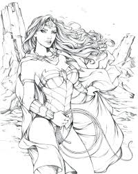 Wonder Woman Inks Spider Girl Coloring Pages Superhero Sheets ...