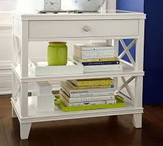 pottery barn bedside table white