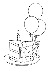 birthday cake slice drawing. Contemporary Drawing Slice The Cake That Will Be Packed Birthday Coloring Pages In Drawing H