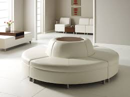 round bench seating.  Bench Modular Upholstered Bench  Contemporary Leather Commercial  AREA By  John Stafford U0026 Chris Carter Intended Round Bench Seating M