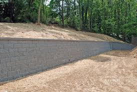 gray block retaining wall atlanta