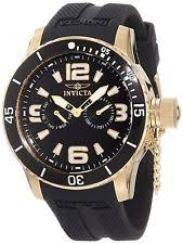 invicta watch invicta specialty 18k gold ion plated mens watch 1792