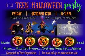 Halloween Dance Flyer Templates Teen Halloween Party Flyer Template Postermywall