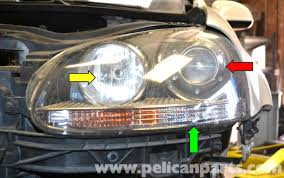 volkswagen golf gti mk v headlight bulb and assembly replacement large image
