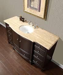 bathroom single sink vanities. silkroad 60\ bathroom single sink vanities