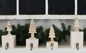 DIY wooden tree stocking holders