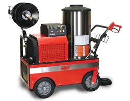 800 series hot water electric powered pressure washers dsg hotsy 800 series optional hose reel