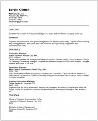 Cover Letter Production Manager Resume Samples Production Manager