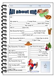 all about me worksheet for preschool worksheets