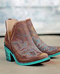 Corral Size Chart Circle G Cognac With Teal Embroidery And Teal Heel In 2019