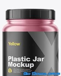 Find & download free graphic resources for website mockup. Yellowimages Matte Metallized Protein Jar Mockup Free Download Godownloads