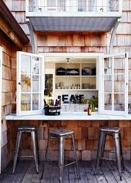 a simple window and an outdoor windowsill to use it as an outdoor bar or breakfast