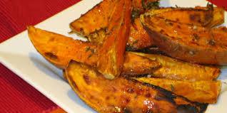 roasted sweet potato recipes.  Sweet Thyme Roasted Sweet Potatoes To Potato Recipes Food Network Canada
