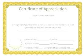 Certificate Appreciation Templates Template Free Award And Employee