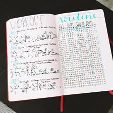 Work Out Journal 19 Best Bullet Journal Ideas For Workout Trackers And Weight
