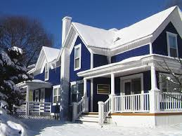 Splendid Home Exterior Paint Combination Featuring Modern White - Home exterior paint colors photos