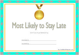 Most Likely To Award Template Most Likely To Certificate Template 1 One Package