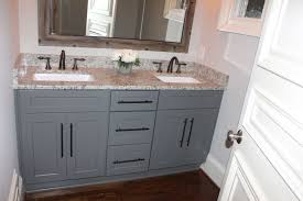white shaker bathroom vanity. Grey Shaker Cabinets With Oil Rubbed Bronze Pulls And Faucets. Dallas White Granite Bathroom Vanity E