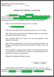 Affidavit Of Support Letter New HOW TO Japan Authenticated And Notarized Affidavit Of Support