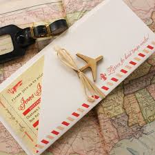 best 130 etsy destination wedding invitations images on pinterest When To Mail Destination Wedding Invitations vintage air mail boarding pass invitation (new orleans) design fee when to mail out destination wedding invitations