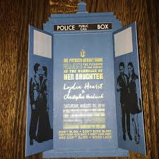 dr who wedding invitations. arts/craftsour wedding invitations turned out even better than i had hoped. dr who w
