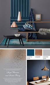 Copper, Grey, And Blue Color Palette #copper