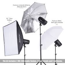 russia andoer md 300 600w 300w 2 photo studio kit strobe flash light softbox lighting kit for shooting charger