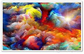 modern abstract art colorful clouds oil painting photo wallpaper dining room gallery creative backdrop wall decor