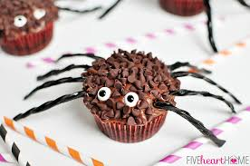 halloween spider cupcakes. Beautiful Spider Spider Cupcakes For Halloween  Five Heart Home Throughout A