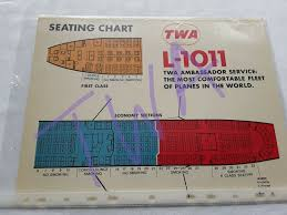 Twa Ambassador Service Seat Charts 1971 L1011 747