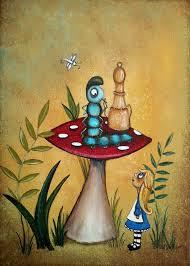 alice in wonderland artwork painting alice in wonderland art alice and the caterpillar by charlene