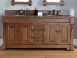 country bathroom double vanities. bathroom: large wooden country bathroom vanity with double sink and mirror featuring granite countertop - vanities a