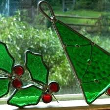 stain glass ornaments pair of vintage stained glass ornaments or stained glass decoration patterns