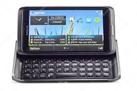 Smart phone Nokia E70 isolated on white ...