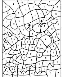 Printable Color By Numbers Christmas For Adults Free Kindergarten