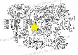 Small Picture For fuks sake Swear Words Printable Coloring Pages