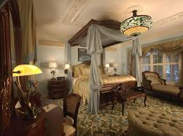 awesome victorian bedroom decorating ideas with beautiful curtains unique chandelier light and soft blue wall color