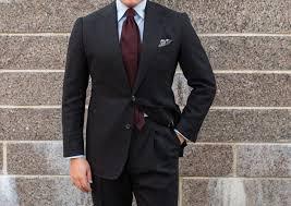 Light Grey Suit With Burgundy Tie Burgundy Grenadine Tie With A Dark Grey Suit