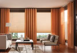 trendy office designs blinds. Living Room Curtains Design Ideas 2016. Vertical Dark Orange Blinds In Combination With Sandy Roller Trendy Office Designs E