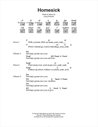 the vines homesick sheet notes